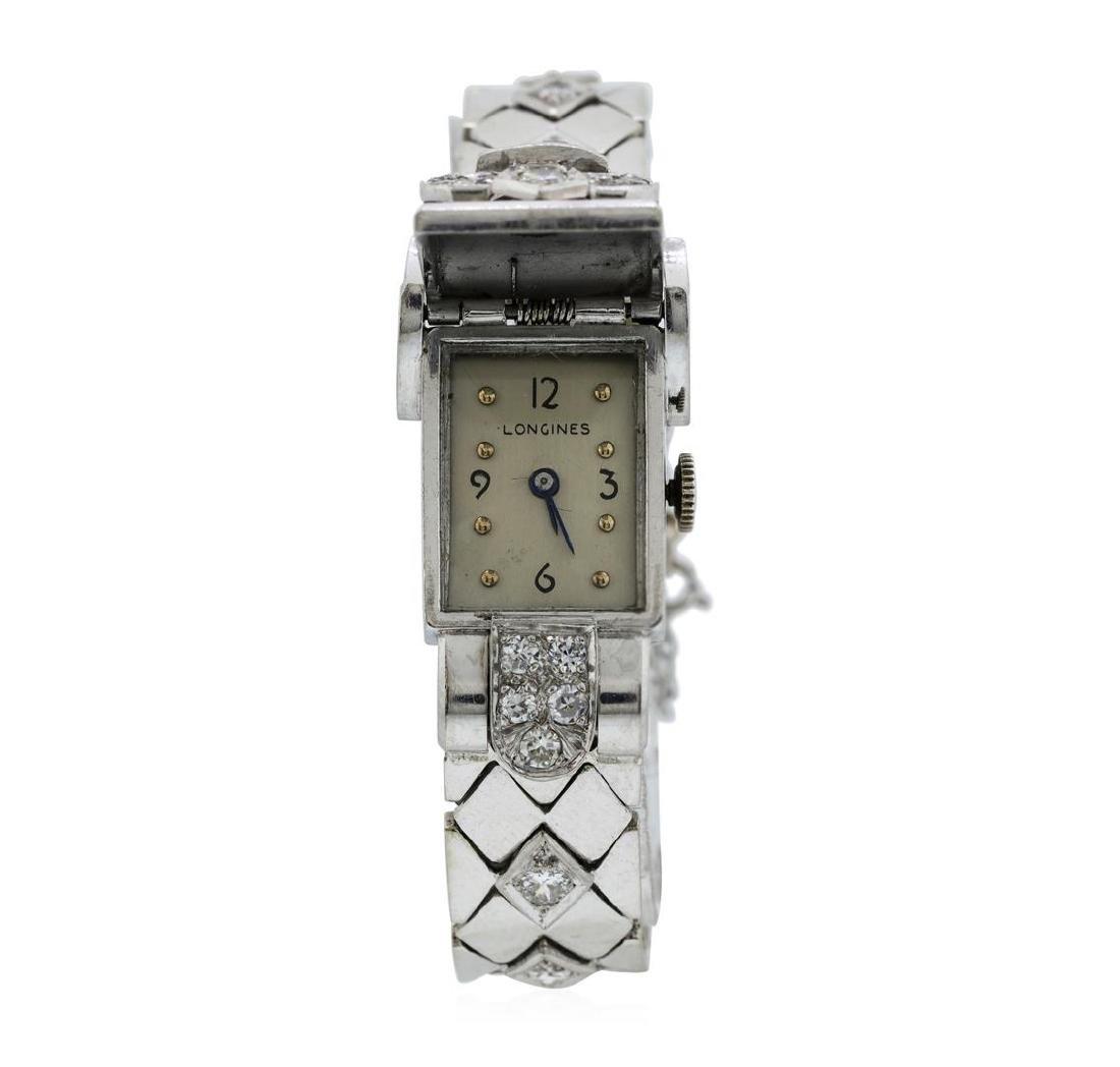 Longines Lady's Bracelet Watch - Platinum and 14KT