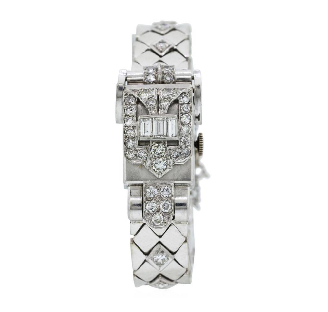 Longines Lady's Bracelet Watch - Platinum and 14KT - 2