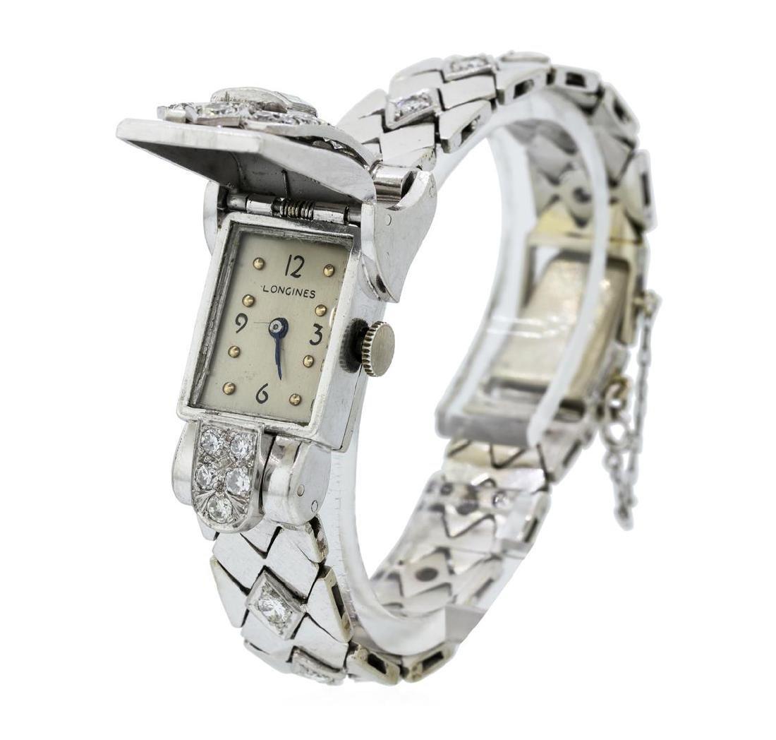 Longines Lady's Bracelet Watch - Platinum and 14KT - 3