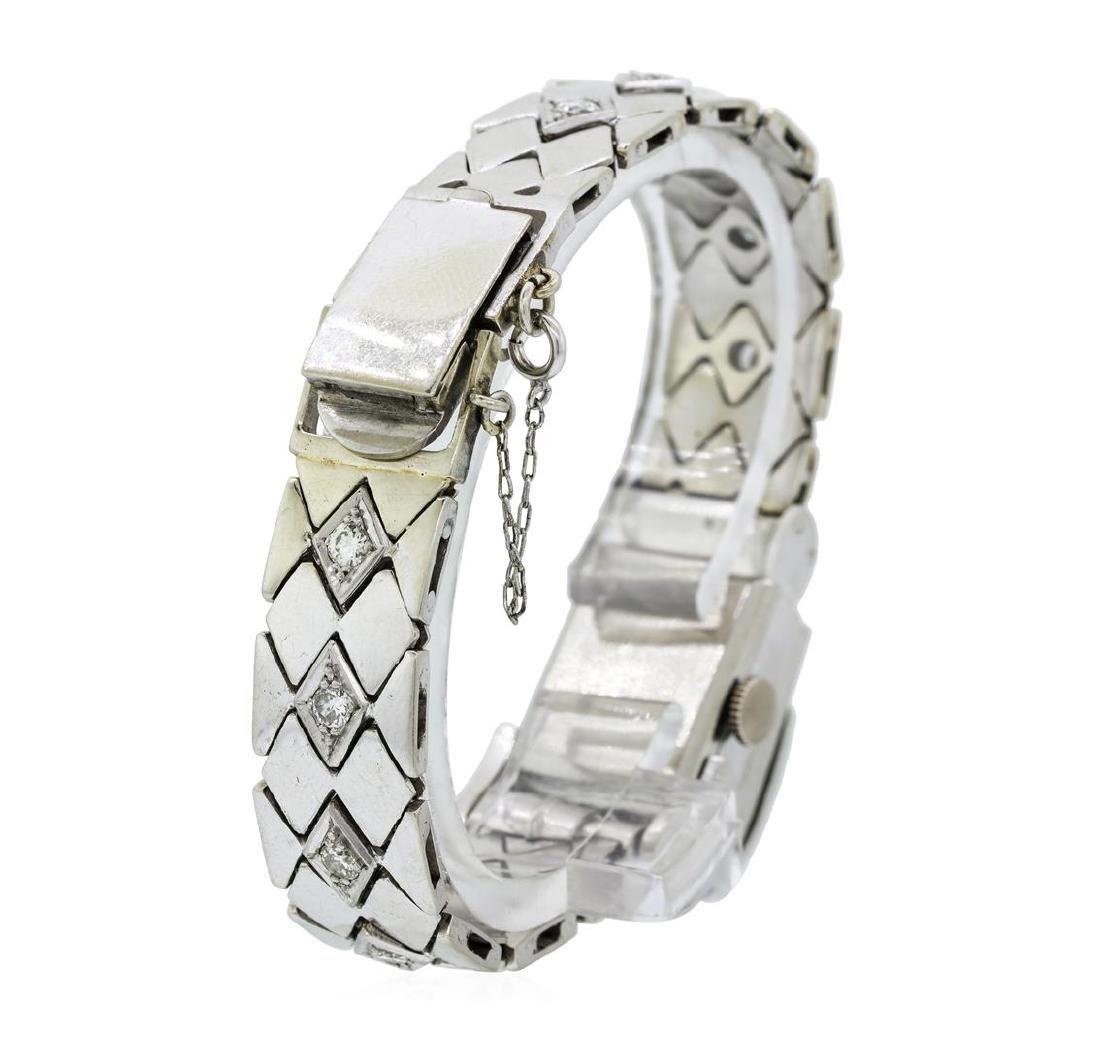 Longines Lady's Bracelet Watch - Platinum and 14KT - 4