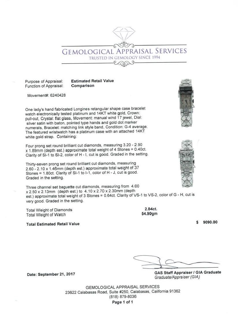Longines Lady's Bracelet Watch - Platinum and 14KT - 5