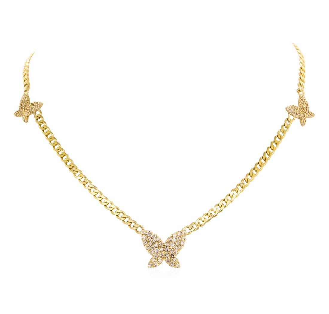 1.72 ctw Diamond Necklace - 14KT Yellow Gold