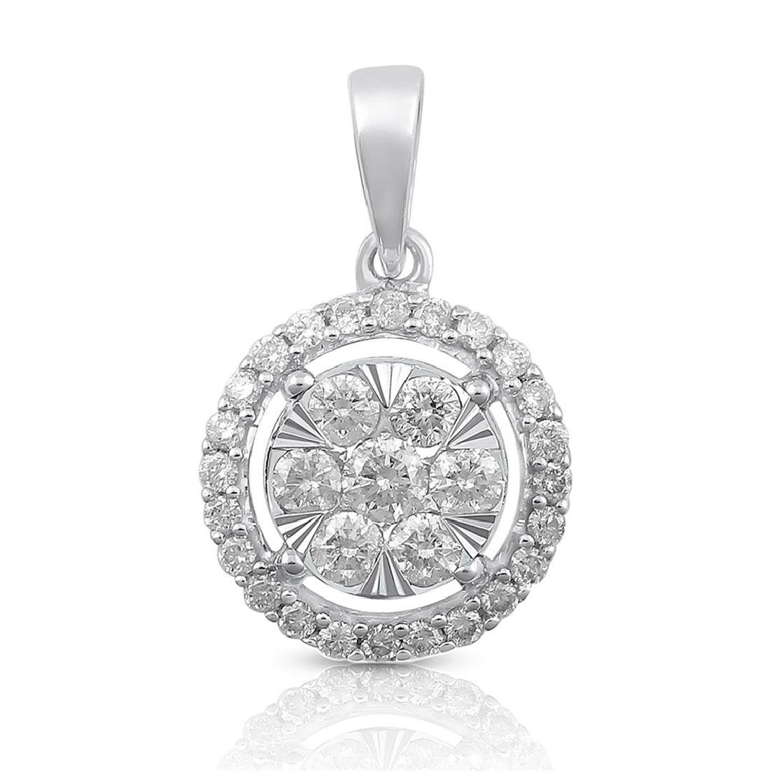 14K Yellow Gold 0.50CTW Diamond Pendant Necklace,