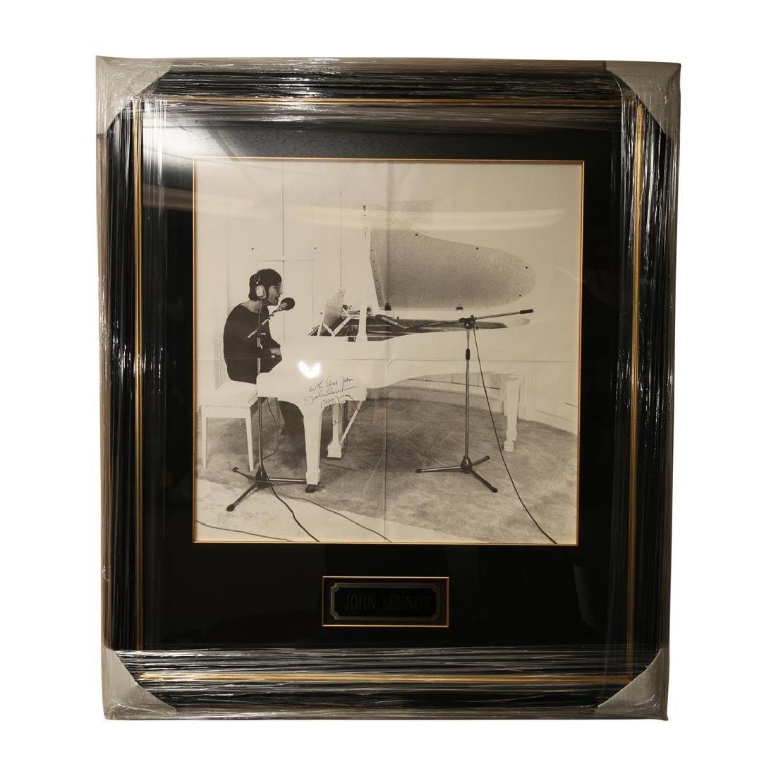John Lennon Autographed Poster