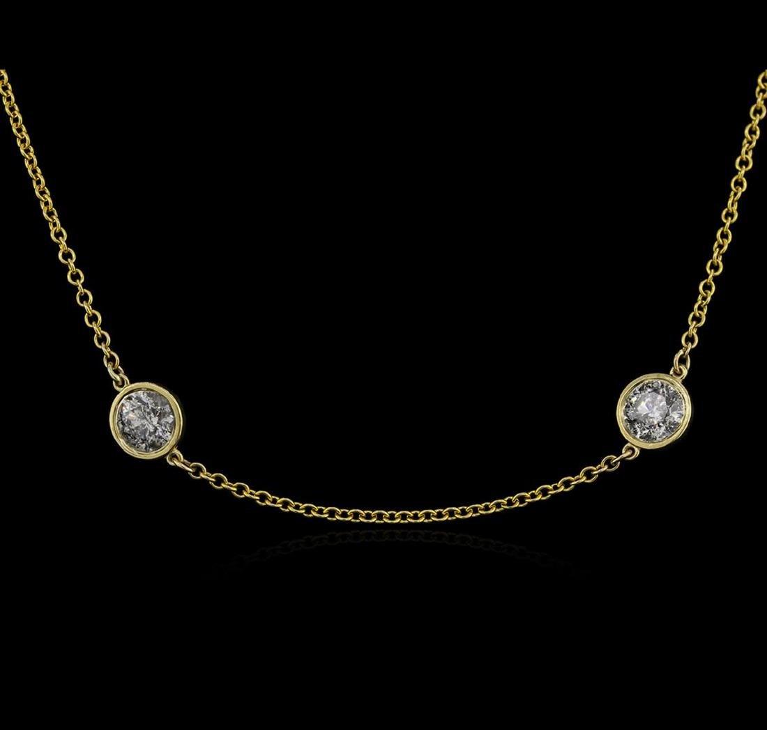 14KT Yellow Gold 4.87 ctw Diamond Necklace