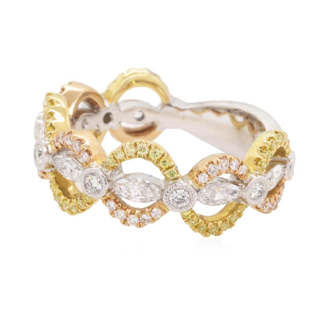0.5 ctw Diamond Band - 18KT White, Yellow & Rose Gold