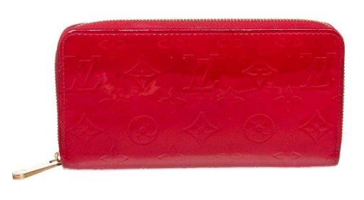 c08e9e06 Louis Vuitton Red Vernis Monogram Zippy Wallet
