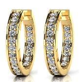 14K Yellow Gold 075CTW Diamond Earrings VSFG