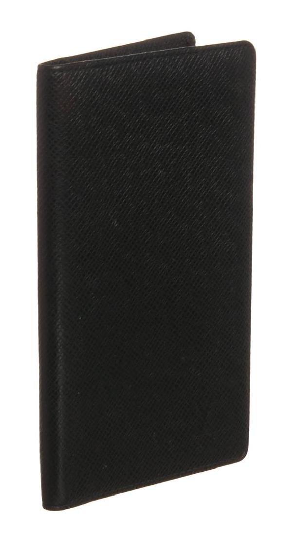 Louis Vuitton Green Taiga Leather Checkbook Wallet