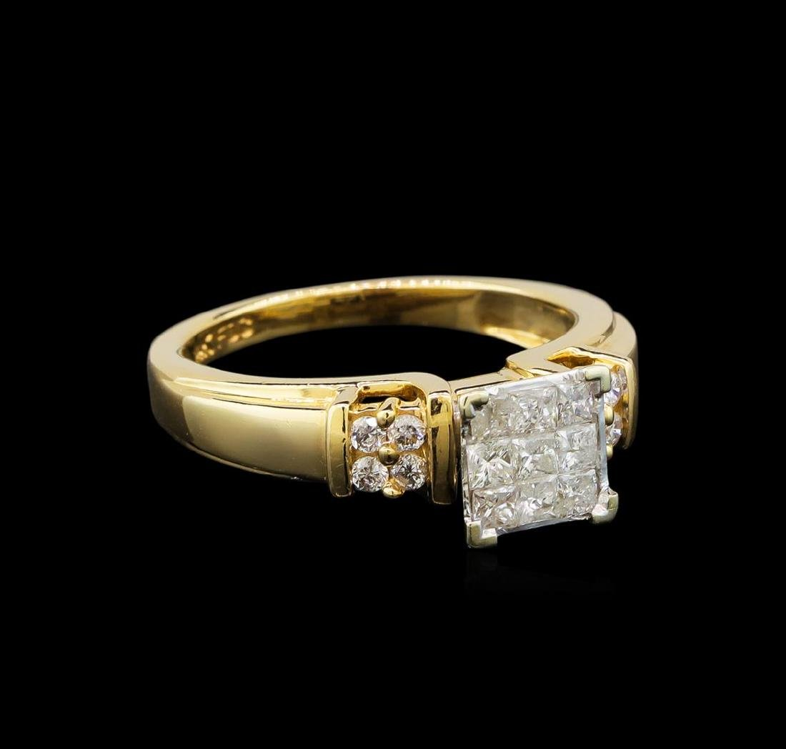 14KT Yellow Gold 0.56 ctw Diamond Ring