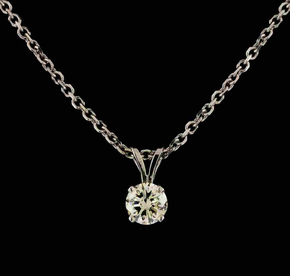 1.00 ctw Diamond Solitaire Pendant With Chain - 14KT