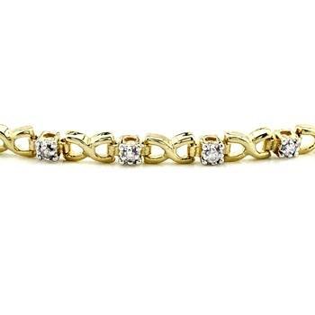 10k Yellow Gold 0.25CTW Diamond Bracelet, (I2-I3/J-K)