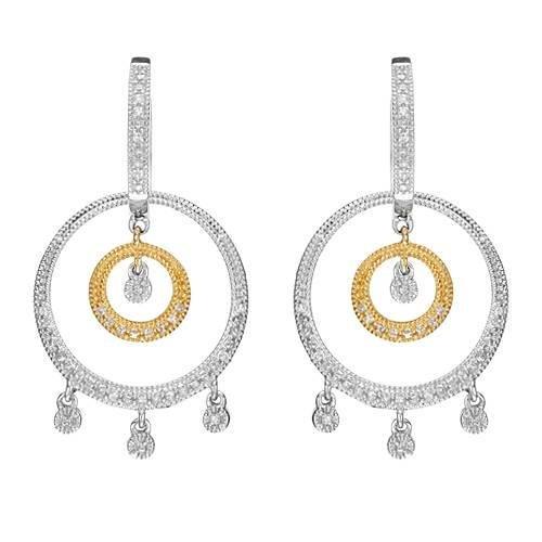 14k Two Tone Gold 0.52CTW Diamond Earrings, (I1/H)