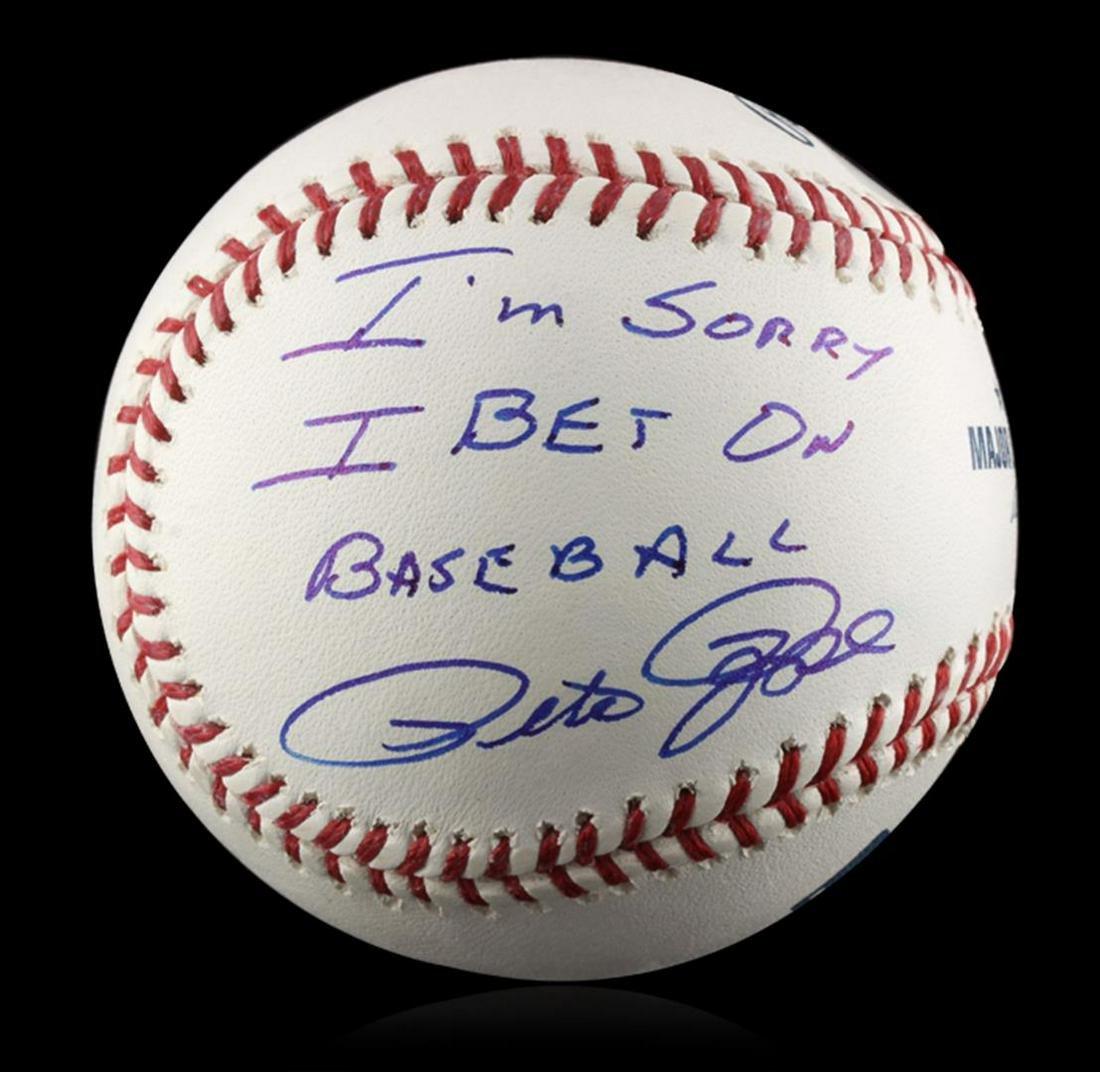 "Autographed Pete Rose ""I'm Sorry"" Baseball PSA"