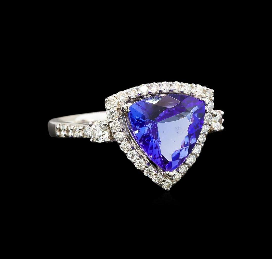 18KT White Gold 4.41 ctw Tanzanite and Diamond Ring