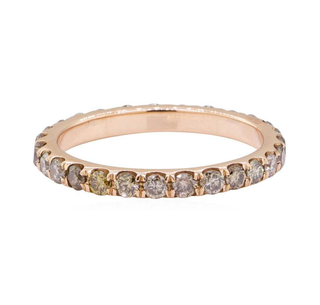 1.00 ctw Chocolate Diamond Eternity Ring - 14KT Rose