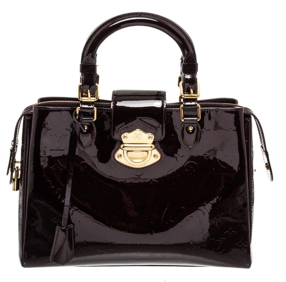 Louis Vuitton Dark Purple Amarante Vernis Leather