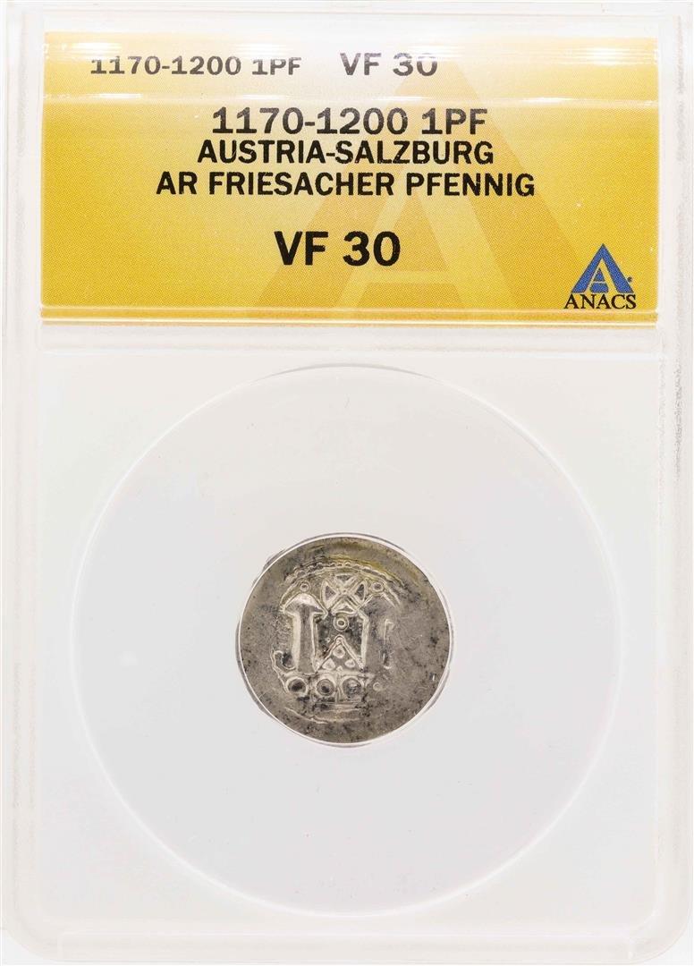 1170-1200 Austria-Salzburg AR Friesacher Pfennig ANACS