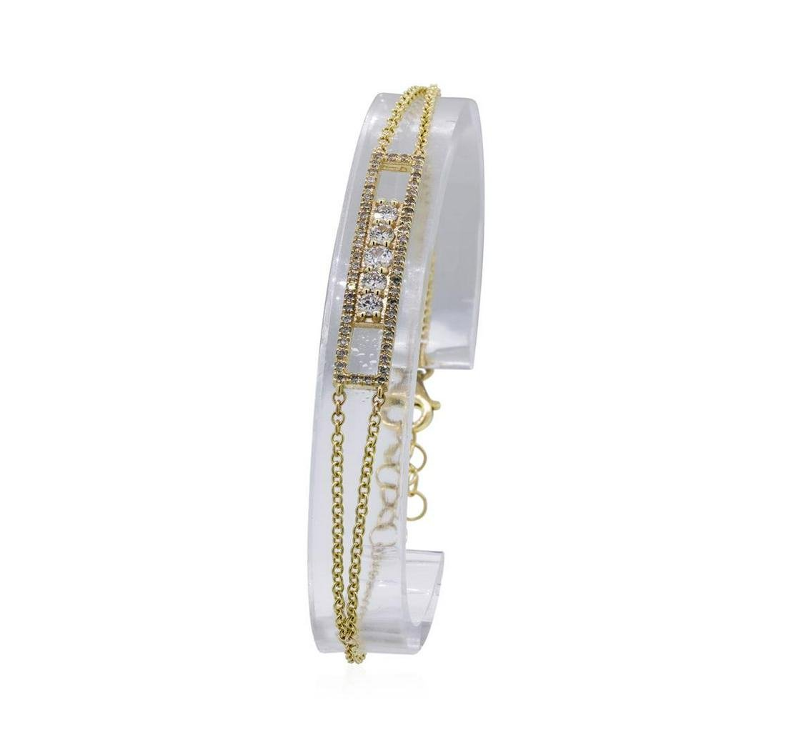0.45 ctw Diamond Bracelet - 14KT Yellow Gold