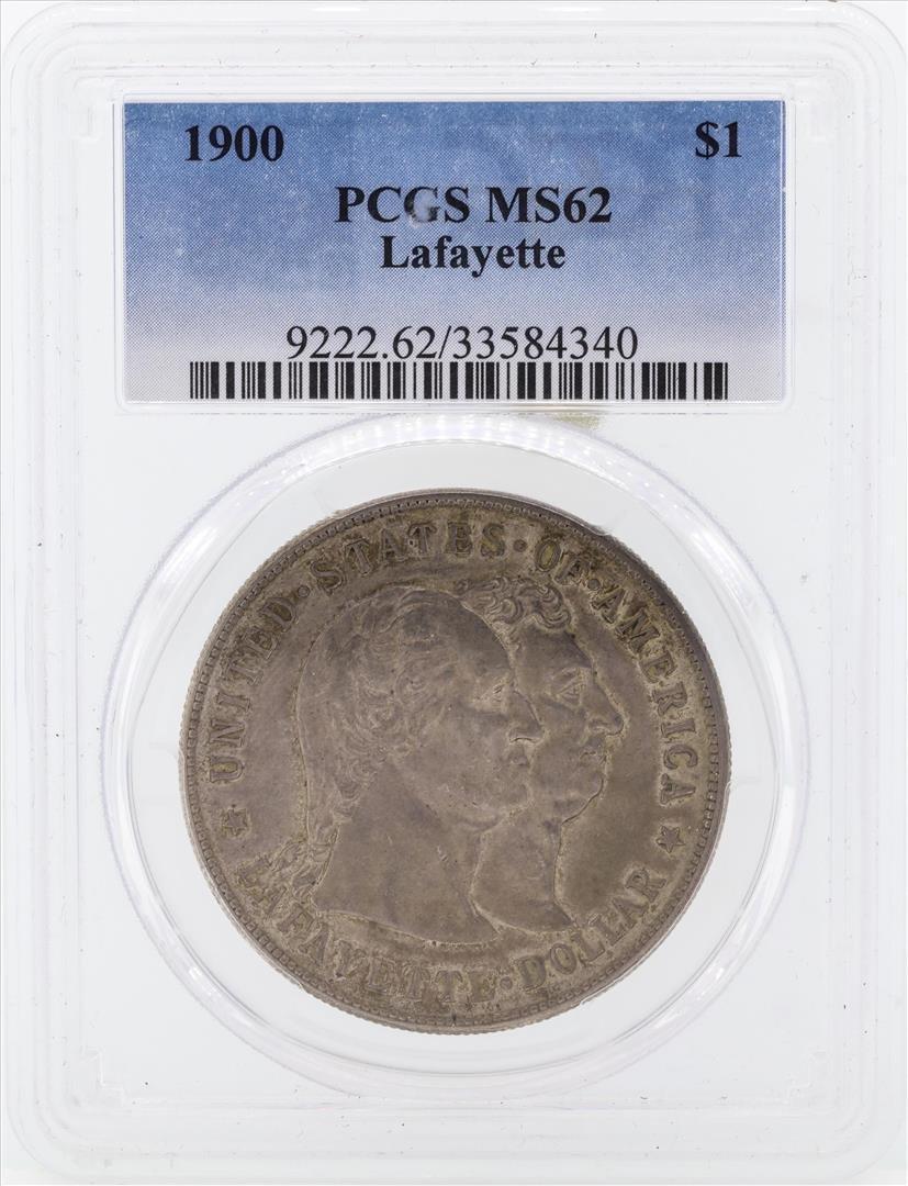 1900 $1 Lafayette Commemorative Silver Dollar Coin PCGS