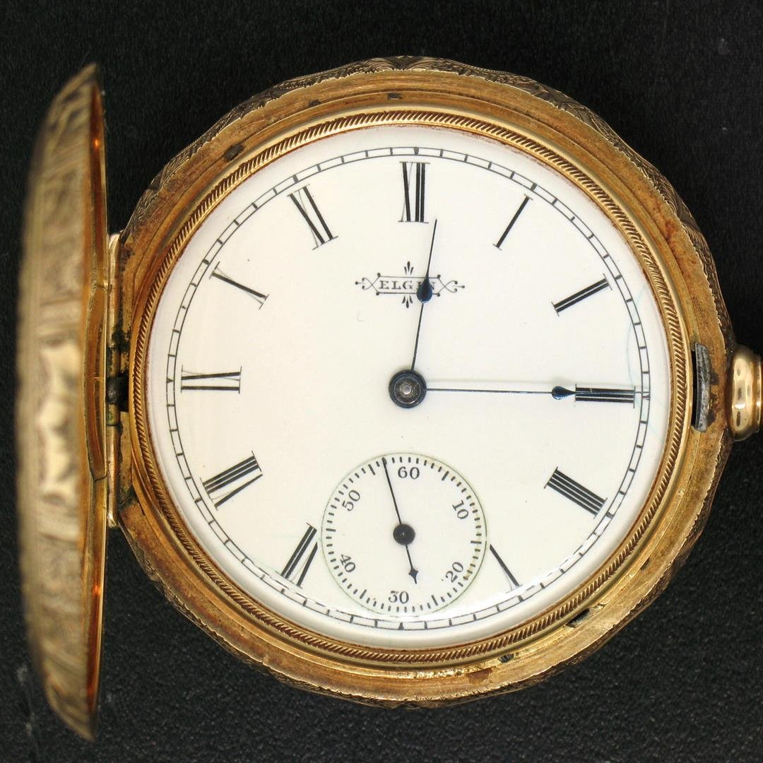 100% Working Elgin Grade 101 6s 11j Pocket Watch 14K