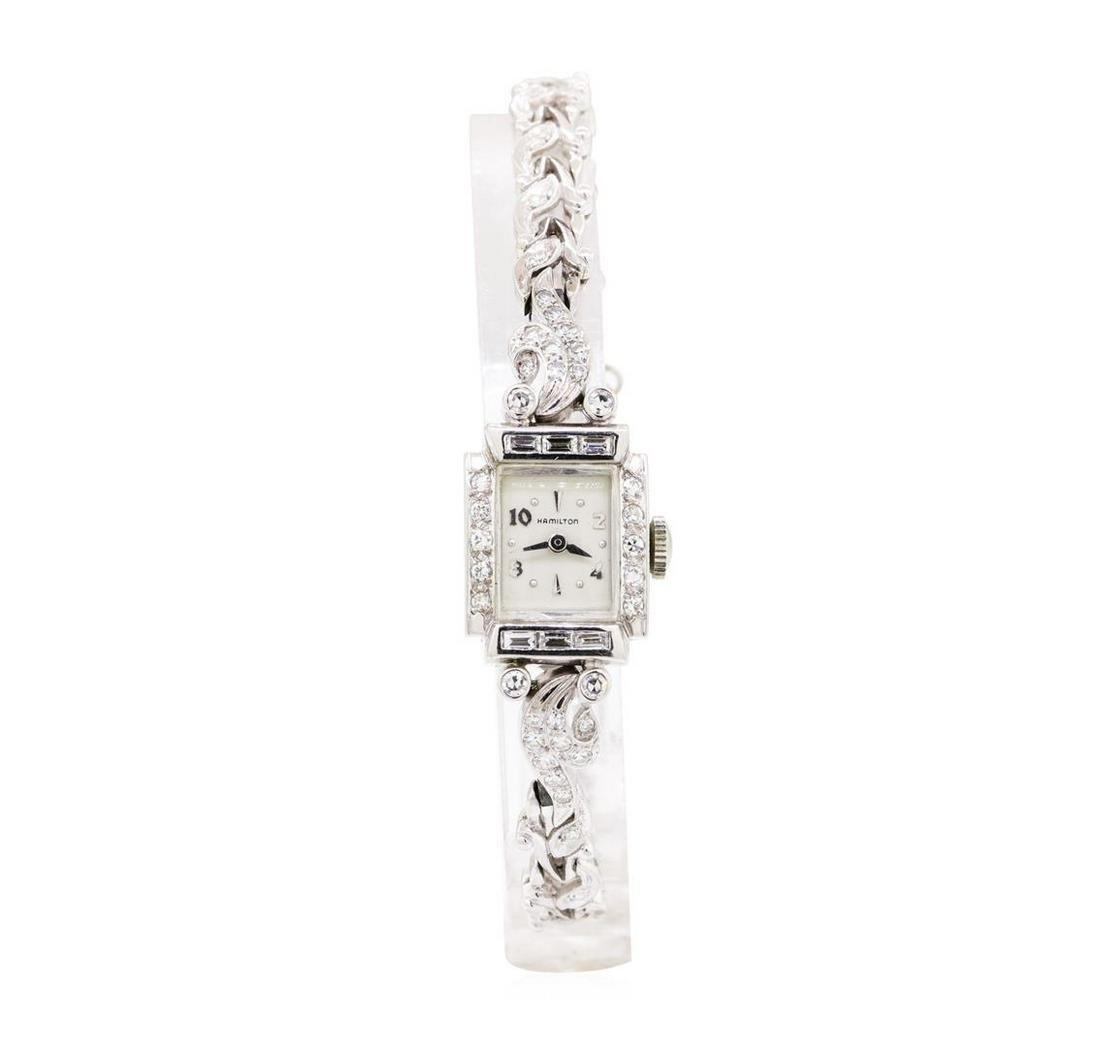 Hamilton 1.80 ctw Diamond Lady's Vintage Wristwatch -