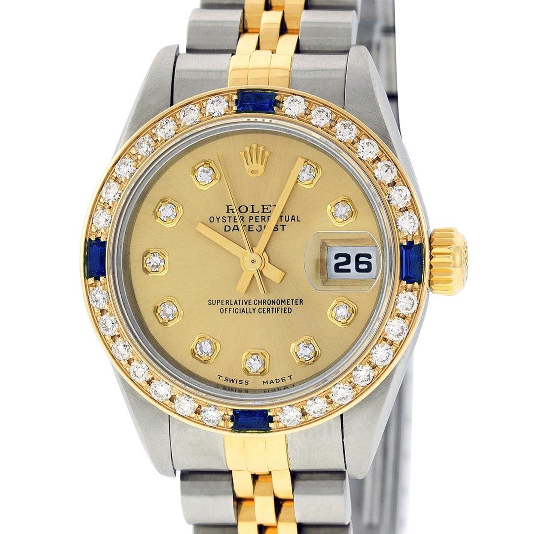 Rolex Ladies Quickset 2 Tone Champagne Diamond &