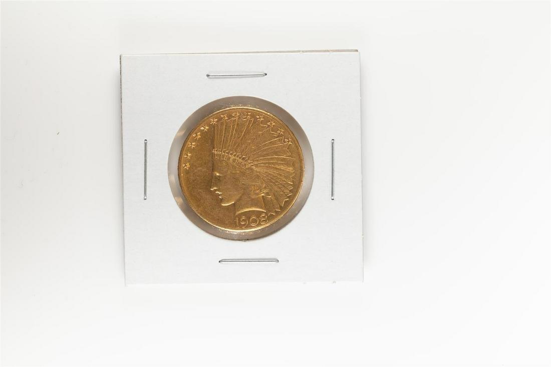 1908-D $10 Indian Head Eagle Gold Coin