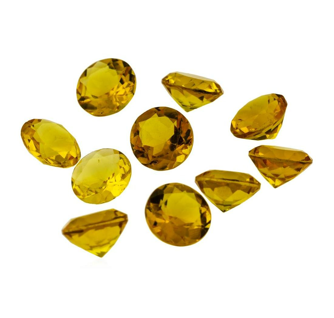16.85 ctw.Natural Round Cut Citrine Quartz Parcel of
