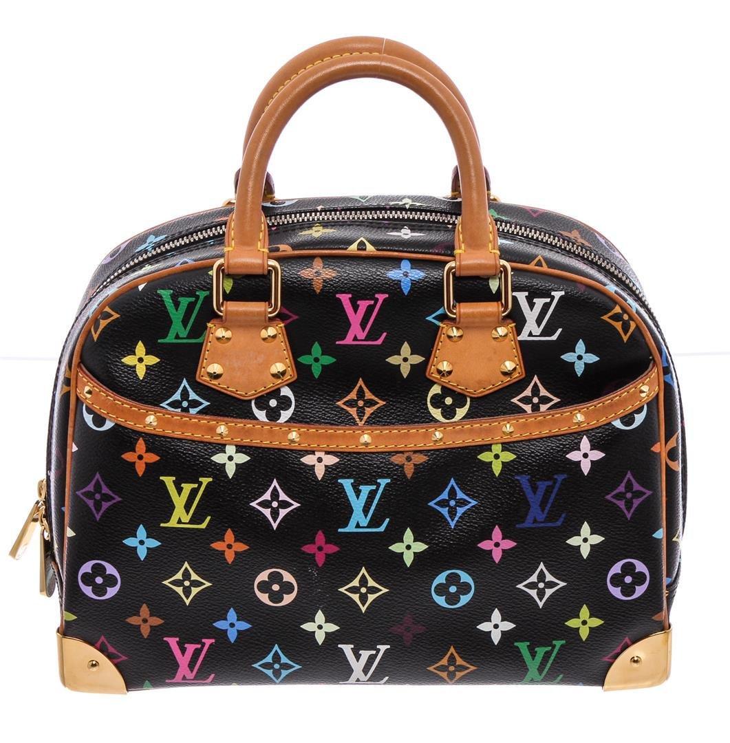 Louis Vuitton Black Multicolore Canvas Leather