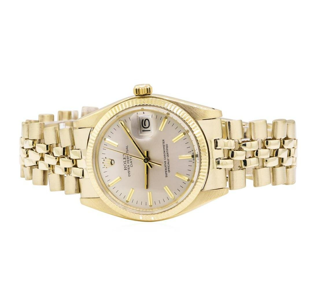 Rolex Oyster Perpetual Date Wrist Watch - 14KT Yellow