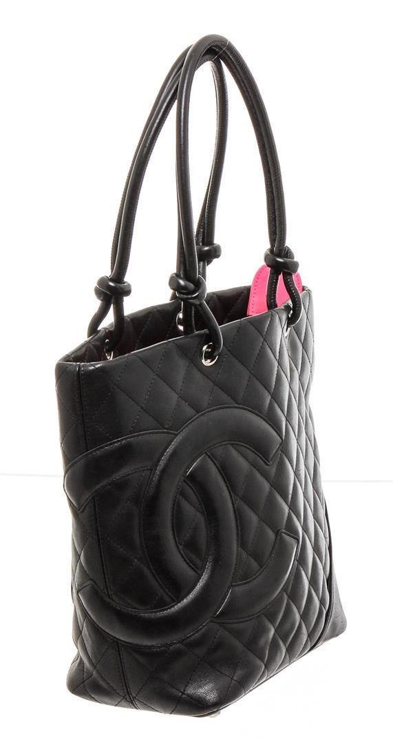 Chanel Black Lambskin Leather Small Ligne Cambon Bucket