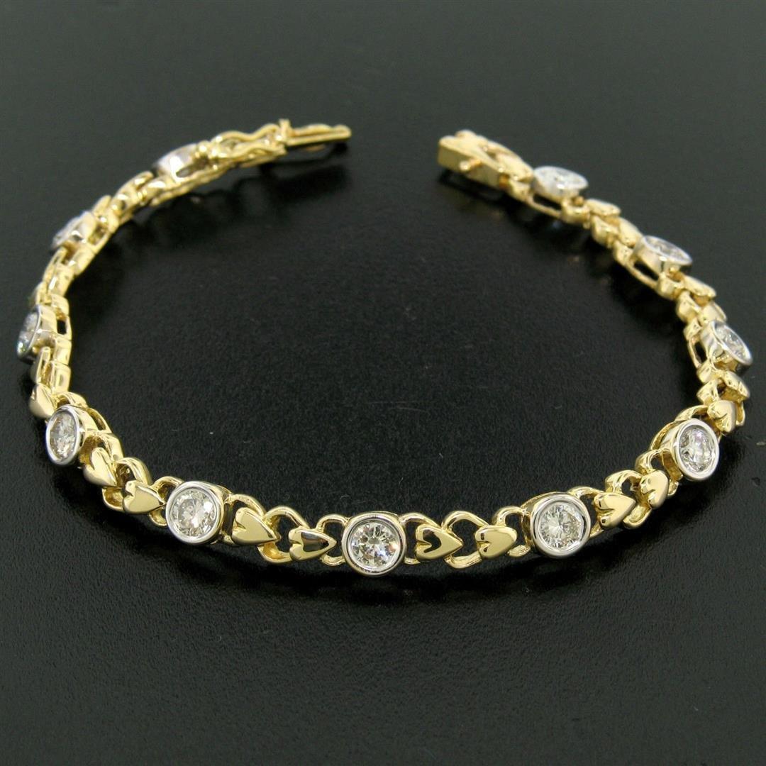 18k Yellow Gold 2.15 ctw Bezel Round Brilliant Diamond
