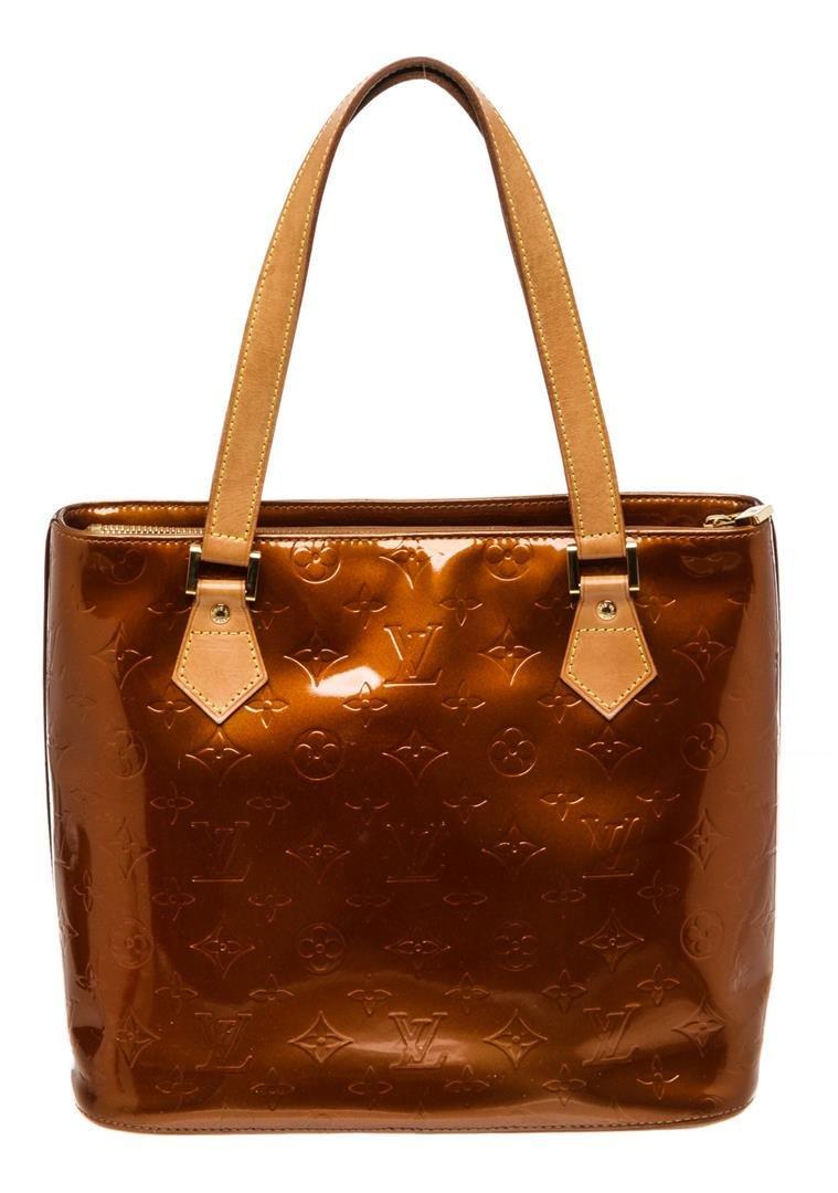 Louis Vuitton Bronze Vernis Monogram Leather Houston