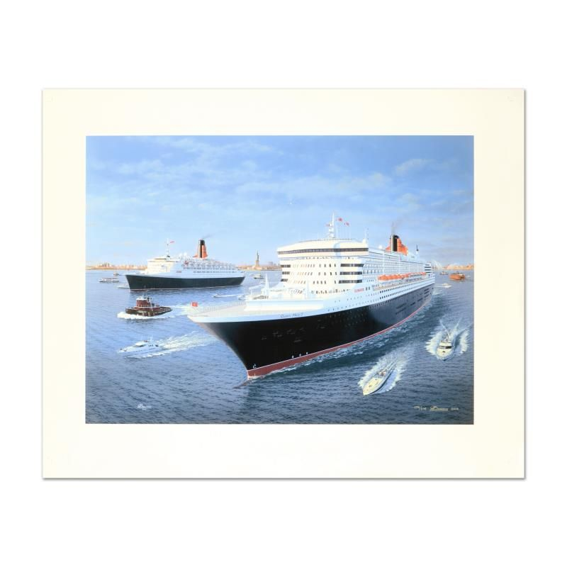 Cunard Queens by Bauwens, Gordon