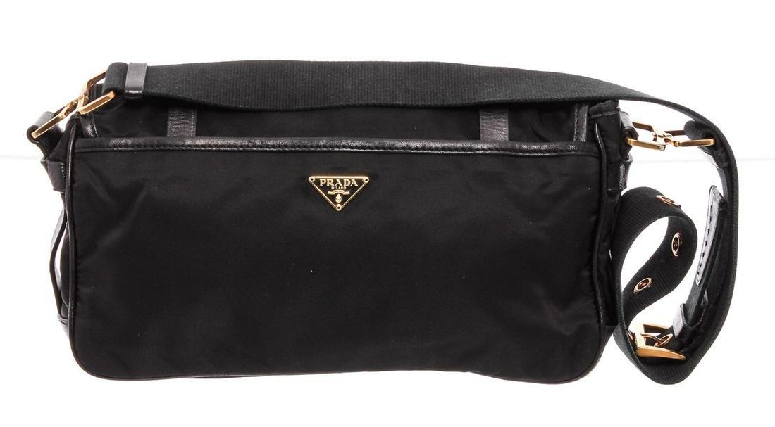 Prada Black Nylon Shoulder Messenger Bag