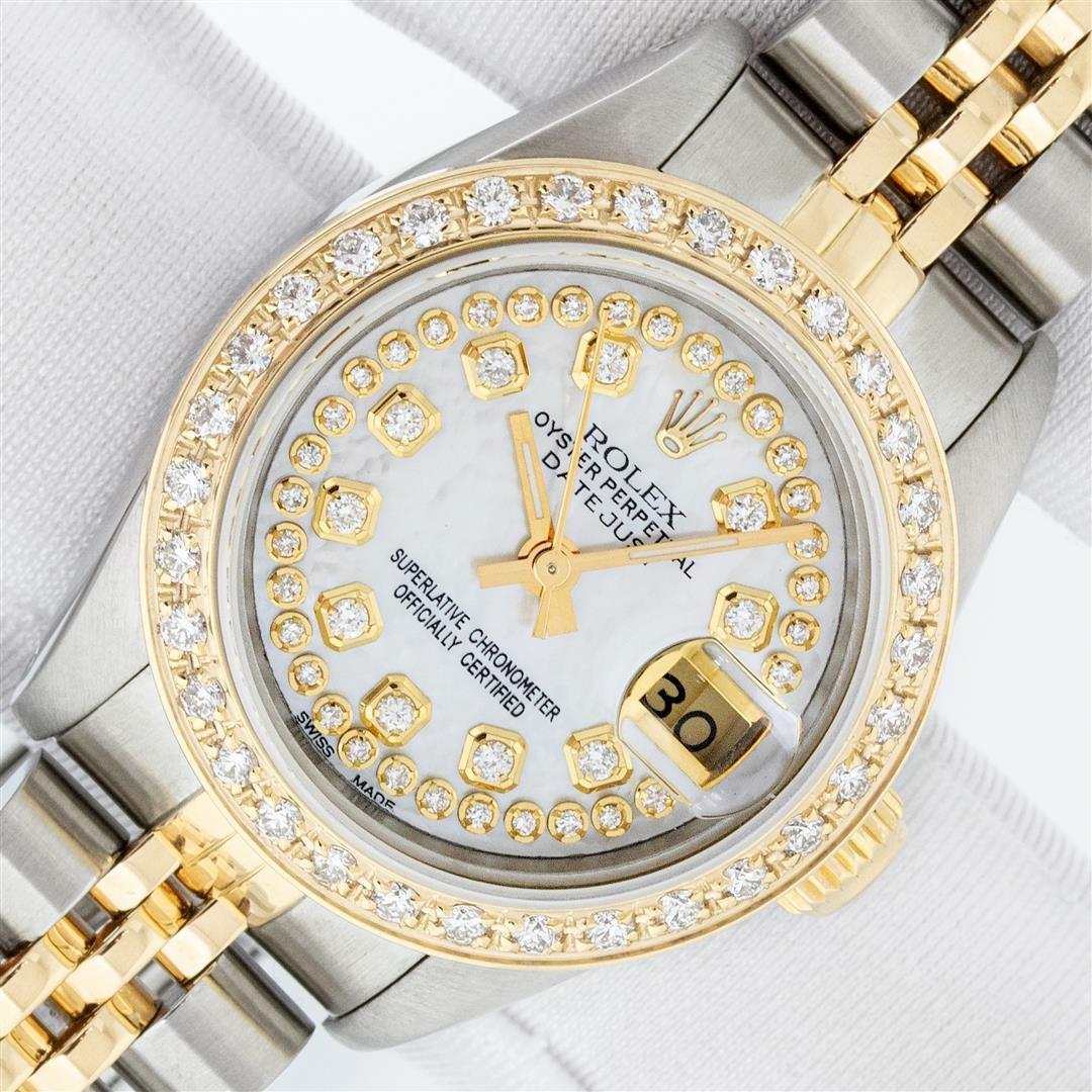 Rolex Ladies 2 Tone MOP String Diamond Datejust