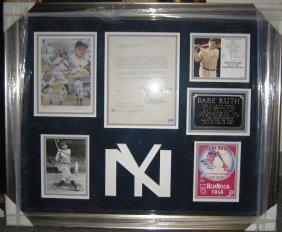 1: Babe Ruth Framed Signed Letter Collage
