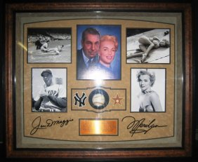 Marilyn Monroe / Joe DiMaggio Framed Signed Piece
