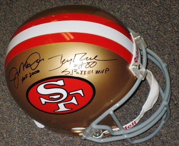 11: Joe Montana / Jerry Rice Signed 49ers Helmet