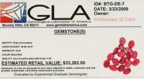 12: Lot of (17) Loose Oval Ruby Gemstones