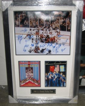 """13: """"Miracle on Ice"""" Framed Signed Photo Collage"""