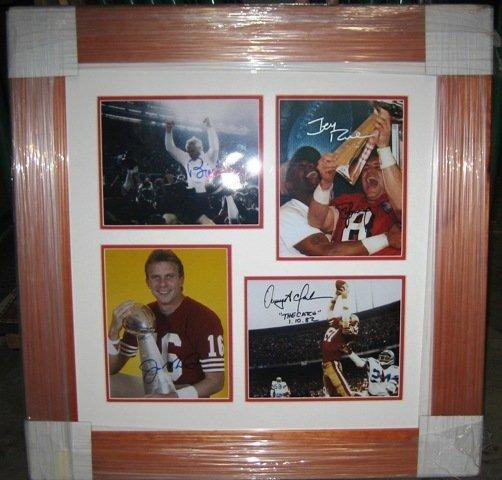 20: 49ers Legends (5) Framed Signed Photo Collage