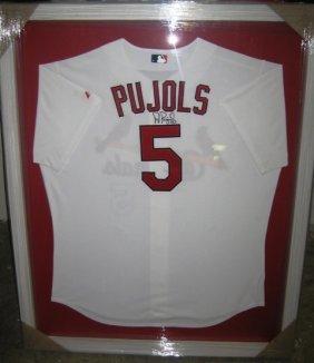 24: Albert Pujols Framed Signed Cardinals Jersey