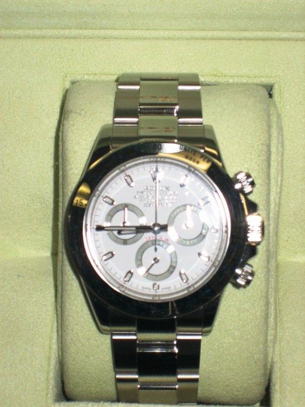 """25: Rolex Daytona """"D-Series"""" Stainless Men's Watch"""