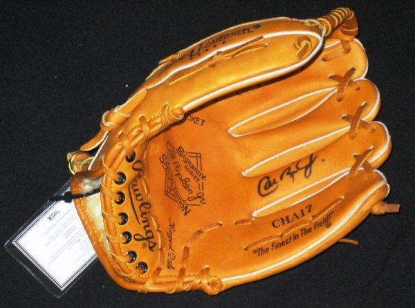 75: Cal Ripken Jr. Signed Rawlings Baseball Glove