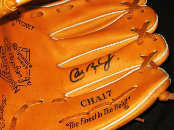 75: Cal Ripken Jr. Signed Rawlings Baseball Glove - 2
