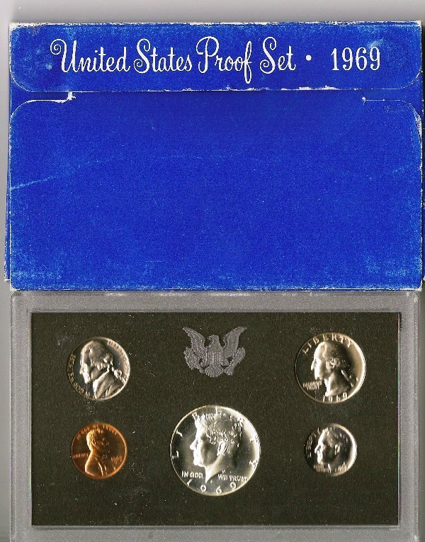 80: 1969 United States Coin Uncirculated Proof Set