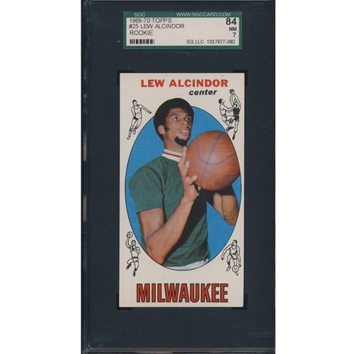 361: 1968 Topps Lew Alcindor Rookie Card SGC 84