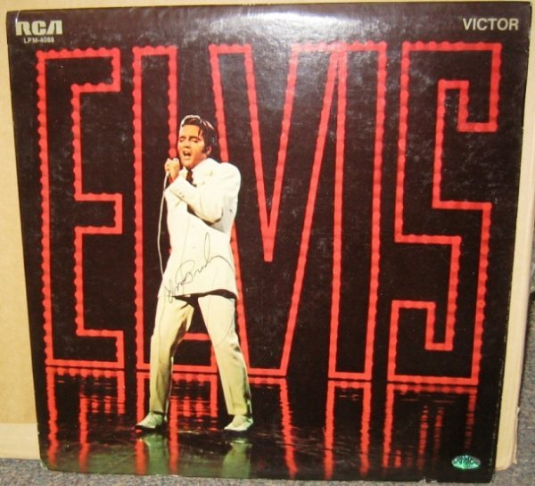 602: Elvis Presley Signed Record Album & Cover
